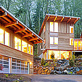Modern Home In Woods by Will Austin
