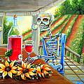Napa Wine Skeleton by Heather Calderon