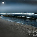 Night Beach  by Artist and Photographer Laura Wrede