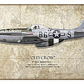 Old Crow P-51 Mustang - Map Background by Craig Tinder