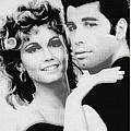 Olivia Newton John And John Travolta In Grease Collage by Tony Rubino
