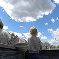 Plane Viewing From The Truck Bed by Sheri Lauren Schmidt