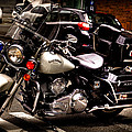 Police Harley Print by David Patterson