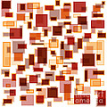 Red Abstract Rectangles by Frank Tschakert