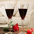 Red Wine And Roses Print by Amanda And Christopher Elwell