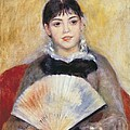 Renoir, Pierre-auguste 1841-1919. Girl by Everett