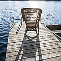 Rocking Chair On Dock by Elena Elisseeva