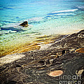 Rocks And Clear Water Abstract by Elena Elisseeva