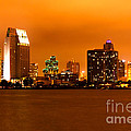 San Diego Skyline At Night by Paul Velgos