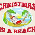 Santa Claus Father Christmas Beach Relaxing by Aloysius Patrimonio