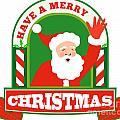 Santa Claus Father Christmas Retro by Aloysius Patrimonio