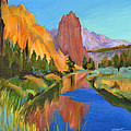Smith Rock Canyon by Tanya Filichkin