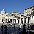 St Peter's Square. Vatican City. Rome. Lazio. Italy. Europe by Bernard Jaubert