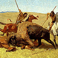 The Buffalo Hunt by Frederic Remington