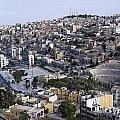 The Roman Theatre In The Middle Of The City Of Amman Jordan by Robert Preston