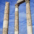 The Temple Of Hercules In The Citadel Amman Jordan by Robert Preston