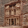 the treasury Nabataean ancient town Petra Print by Juergen Ritterbach