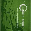Thomas Edison Electric Lamp Patent Drawing From 1880 by Aged Pixel