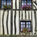 Typical House  Half-timbered In Normandy. France. Europe by Bernard Jaubert