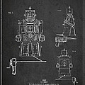 Vintage Toy Robot Patent Drawing From 1955 by Aged Pixel