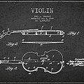 Vintage Violin Patent Drawing From 1928 by Aged Pixel