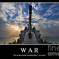 War Inspirational Quote by Stocktrek Images