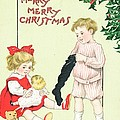 Christmas card by English School