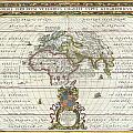 1650 Jansson Map Of The Ancient World by Paul Fearn