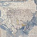 1710 First Japanese Buddhist Map of the World Showing Europe America and Africa Print by Paul Fearn