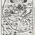 1719 Mallet Map Of The Source Of The Nile Ethiopia by Paul Fearn