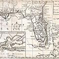 1763 Gibson Map Of East And West Florida by Paul Fearn
