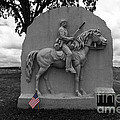 17th Pennsylvania Cavalry Monument Gettysburg by James Brunker