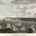 1824 Klinkowstrom View Of New York City From Brooklyn  by Paul Fearn