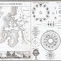 1838 Monin Map Or Physical Tableau And Astronomy Chart  by Paul Fearn