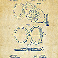 1891 Police Nippers Handcuffs Patent Artwork - Vintage by Nikki Marie Smith