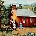1896 School House by Mary Giacomini