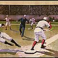 1898 Baseball -  American Pastime  by Daniel Hagerman