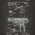 1911 Automatic Firearm Patent Artwork - Gray by Nikki Marie Smith