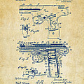 1911 Automatic Firearm Patent Artwork - Vintage by Nikki Marie Smith