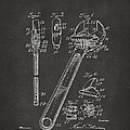1915 Wrench Patent Artwork - Gray by Nikki Marie Smith