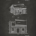1920 Lincoln Logs Patent Artwork - Gray by Nikki Marie Smith