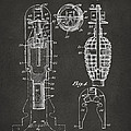 1921 Explosive Missle Patent Minimal Gray by Nikki Marie Smith