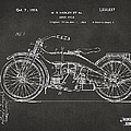 1924 Harley Motorcycle Patent Artwork - Gray by Nikki Marie Smith