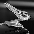 1935 Chevrolet Sedan Hood Ornament -479bw by Jill Reger