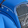 1937 Peugeot 402 Darl'mat Legere Special Sport Roadster Recreation Grille Emblem Print by Jill Reger