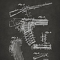 1937 Police Remington Model 8 Magazine Patent Artwork - Gray by Nikki Marie Smith
