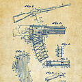1937 Police Remington Model 8 Magazine Patent Artwork - Vintage by Nikki Marie Smith
