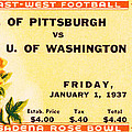 1937 Rose Bowl Ticket by David Patterson