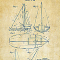 1948 Sailboat Patent Artwork - Vintage by Nikki Marie Smith