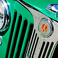 1949 Willys Jeep Station Wagon Grille Emblem by Jill Reger